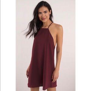 NWT Tobi wine colored shift dress